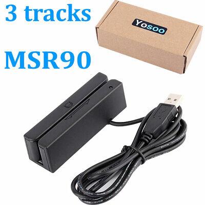 Msr90 Hi-co 3 Tracks Magnetic Credit Card Reader Stripe Swipe Magstripe Scanner
