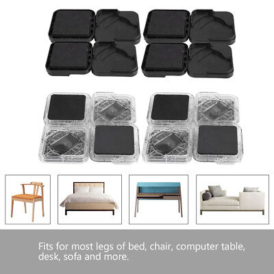 8pcs Furniture Leg Risers Non-slip Large Load Capacity for Table Desk Bed Chairs