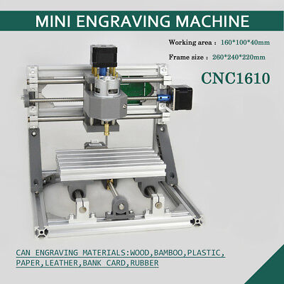 1610 Pcb Milling 3-axis Cnc Router Mini Wood Carving Machine