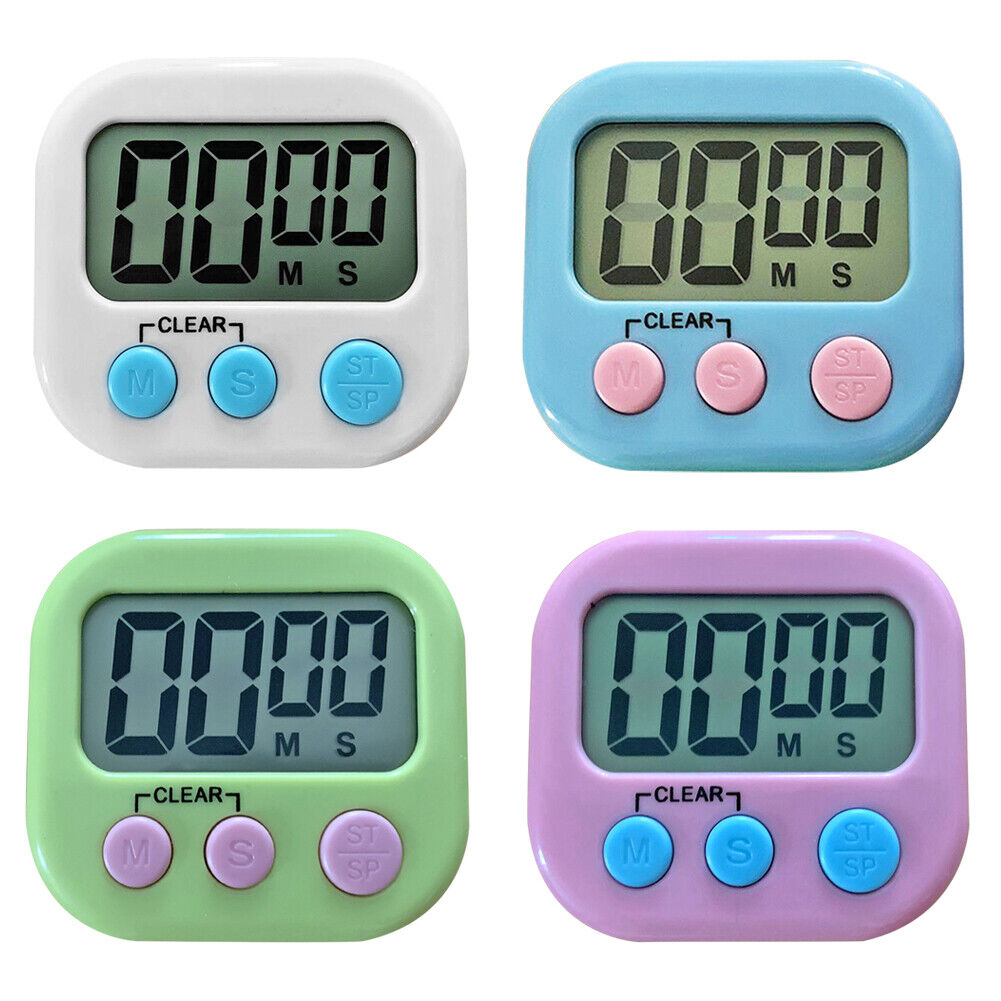 Magnetic LCD Digital Kitchen Timer Countdown Count Town Alar