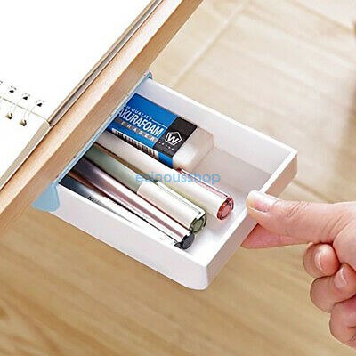 Self-adhesive Drawer Pop-up Tray Desk Hidden Storage Organizer Stationery Case
