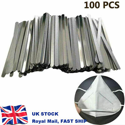 100X Nose Bridge Strip Wire Metal Bendable For Face Mask DIY Making UK STOCK