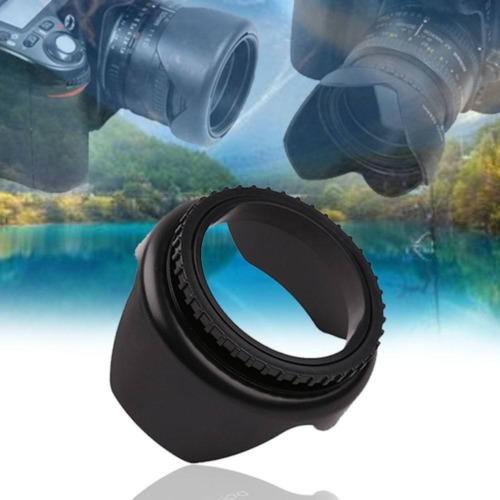 52mm Flower Petal Screw Mount Camera Lens Hood for Cannon Nikon Sony Camera 52mm