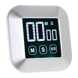 Touch Screen LCD Digital Kitchen Cooking Timer Count-Down Up Clock Loud Alarm