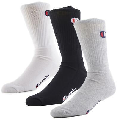 Socken 3 Pack Crew Sock Champion Weiß Herren (Champion Herren Crew Socken)