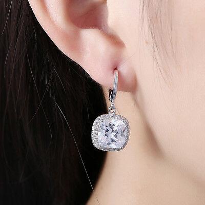 2 CARAT 8MM EACH ROUND CUT, BEZEL SET, CLEAR CZ SOLITAIRE LEVERBACK EARRINGS Each Round Leverback Earrings