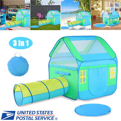 Portable Kid Baby Play House Toy Tent Playhouse 3 in 1 Ball Pit w/ Floor - Ball Pit Tent