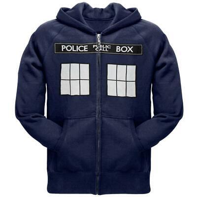 Doctor Who - Large TARDIS Zip Hoodie - Doctor Who Hoodie