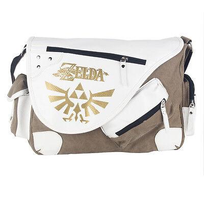 Legend of Zelda Triforce Canvas Messenger Bag Shoulder Bag Satchel Tote School, usado comprar usado  Enviando para Brazil