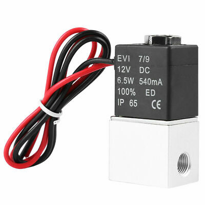 12v Dc 18 2 Way Pneumatic Aluminum Electric Solenoid Gas Water Oil Valve New