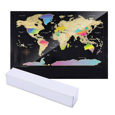 World Map Scratch Off Wall Stickers Home Decor