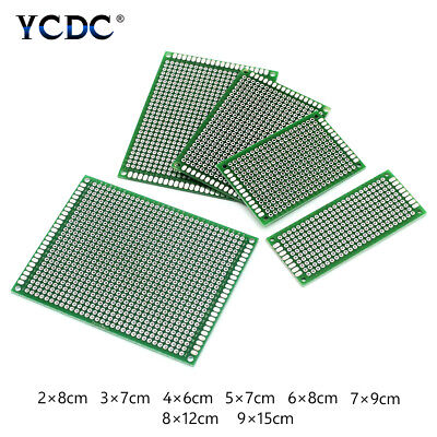 Singledouble Sides Tinned Pcb Circuit Board Prototype Kit For Diy Soldering C6