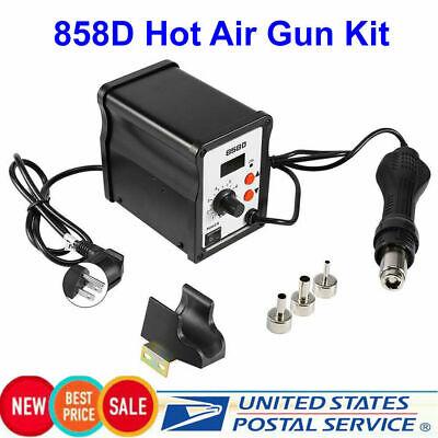 858d Hot Air Gun Kit Rework Station Smd Iron Soldering Solder Holder Voltage110v