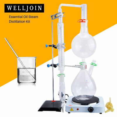Lab Apparatuswhot Stovegraham Condenseressential Oil Steam Distillation Kit