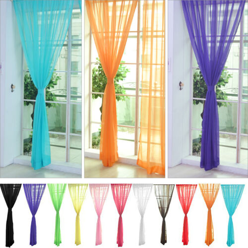 colorato floreale tulle velo porta finestra tenda PURO MANTOVANE A SCIARPA