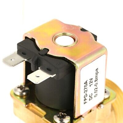 Electric Solenoid Valve 1pc Normal Closed Brass Magnetic Electromagnetic