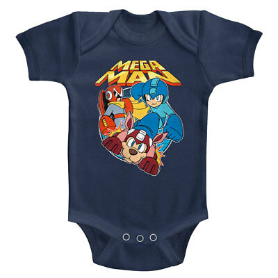 Vintage Infant Bodysuit (Mega Man Rockman & Rush Baby Body Suit Vintage Gamer Infant Romper Boy Capcom)