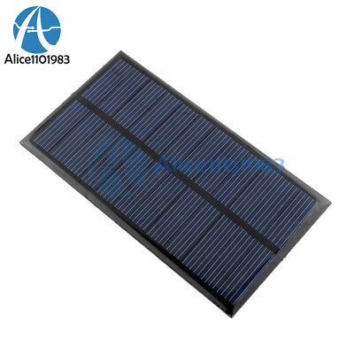 New 6V 1W Solar Panel Module DIY For Well-lit Battery Cell Phone Toys Chargers