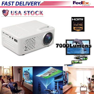 Multimedia 7000 Lumens HD WiFi bluetooth 3D 4K LED Cinema Theater Projector USA