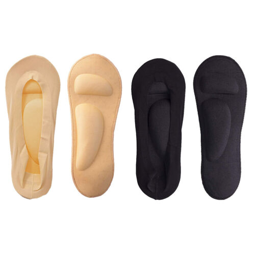 Women No Show Nylon Socks with Arch Support Cushion Padding