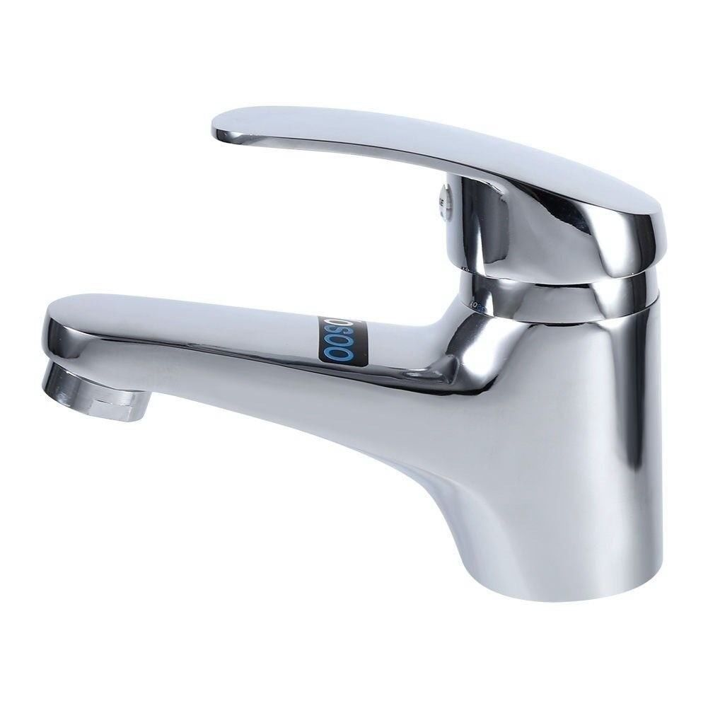 Bathroom Hot /& Cold Water Brass Single Lever Basin Sink Tap Mono Mixer plating
