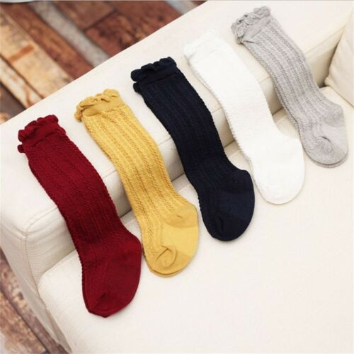 Newborn Baby Toddler Knee High Cotton Cute Long Sock Boy Gir