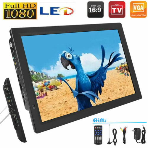 "Portable 14"" LED 1080P Digital TV Player Handheld DVB-T/T2 H"