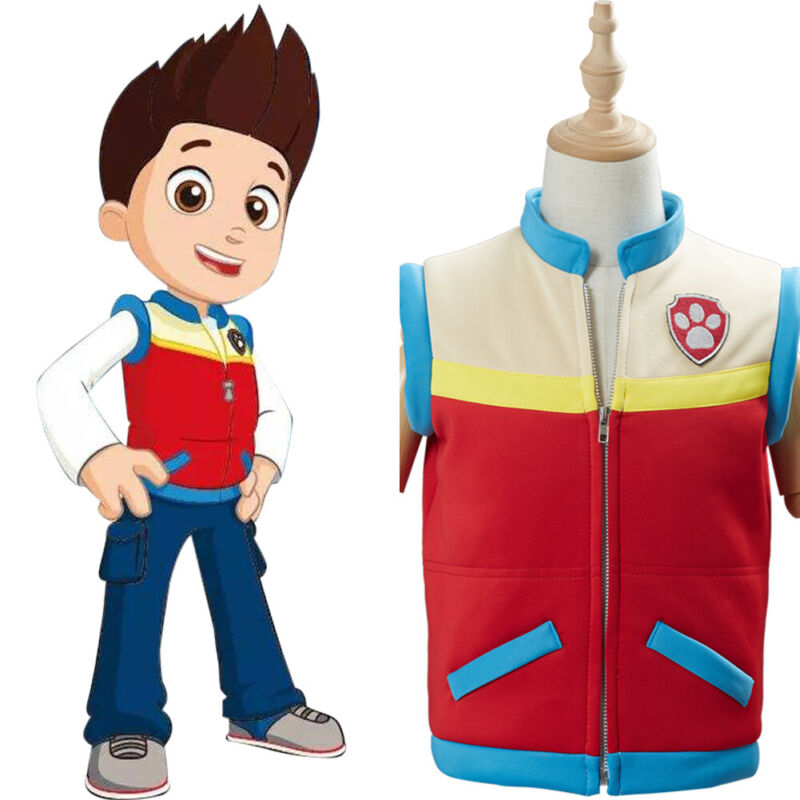 PAW Patrol Captain Ryder Cosplay Costume Kids Children Vest Waistcoat Only