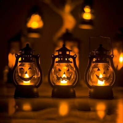 Led Halloween Lamp Pumpkin Light Lantern Party Hanging Decor Decoration Lights