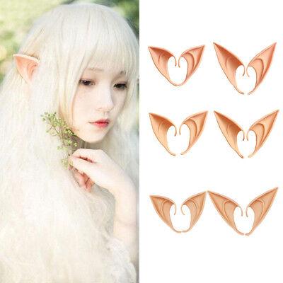 Elf Ears Alien Fairy Hobbit Tips Pointed Elves Halloween Costume Party Cos Props (Elf Cos)