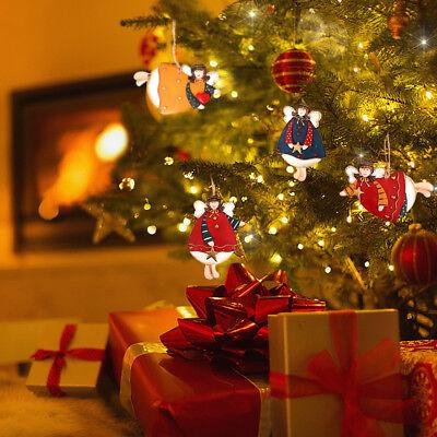 Resin Dancing Angel Christmas Ornaments Decorative Hanging Xmas Tree (Angel)4Ast