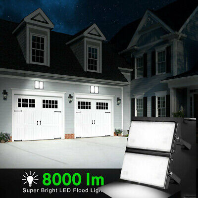 100W LED Flood Light Garden Yard Flood Lamp 8000LM Outdoor Spotlight Cool White