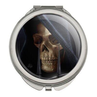 Grim Reaper Dead Death Fantasy Compact Travel Purse Handbag Makeup Mirror