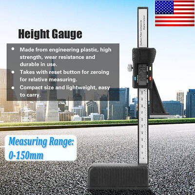 Digital Height Gauge 0-150mm Depth Measuring Tool With Magnetic Base New