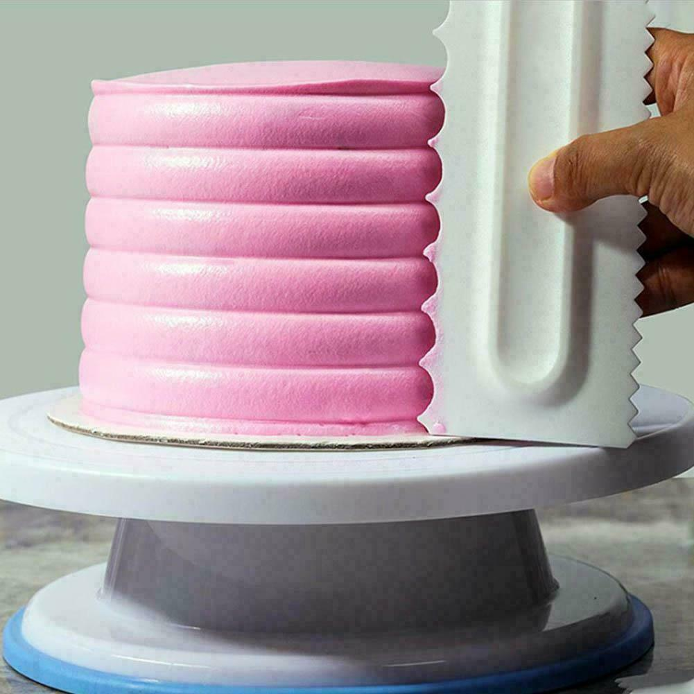 Cake Decorating Comb Icing Smoother Cake Scraper Pastry Desi