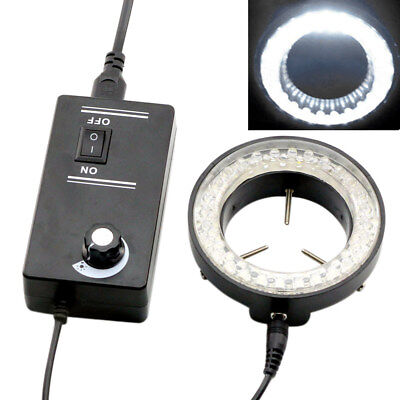 60led 6w Round Adjustable Ring Light Illuminator Lamp For Stereo Zoom Microscope