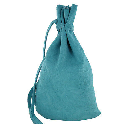 Medieval Suede Master Tailor Renaissance Drawstring Re Enactment Costume Bag