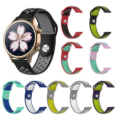 Silicone Wrist Band for Ticwatch C2 HUAWEI Watch Nokia Withthings Steel HR Well Jewelry & Watches