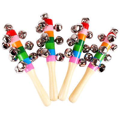 Baby Holz Rassel Regenbogen Bell Kinderrassel Babyrassel Handrassel spielzeug