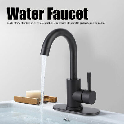 Hot and Cold Bathroom Sink Faucet 304 Stainless Steel Vanity Sink Faucet 3