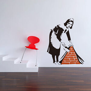 Banksy-French-maid-Quote-vinyl-Wall-sticker-Wallpaper-wall-decals ...