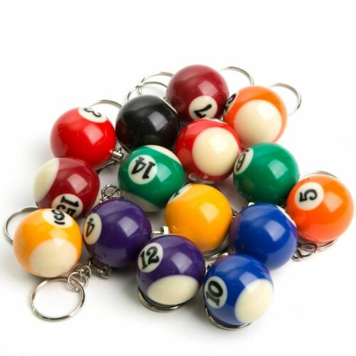 """~ 1"""" Billiard Ball Pool Keychain Keyring: PICK YOUR OWN POISON!!!"""