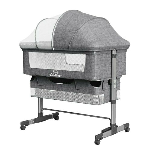 Baby Bassinet Bed Side Bedside Sleeper Infant Foldable Portable Crib Adjustable