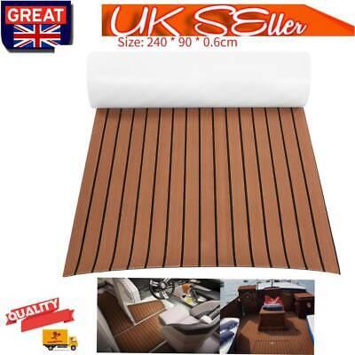 EVA Self Adhesive Foam Teak Sheet Boat Flooring Decking Mat Carpet  240*90*0.6cm