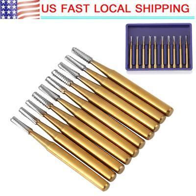 10 Pcsset Dental Carbide Burs Tungsten Steel High Speed Metal Burs Type Fg-1957