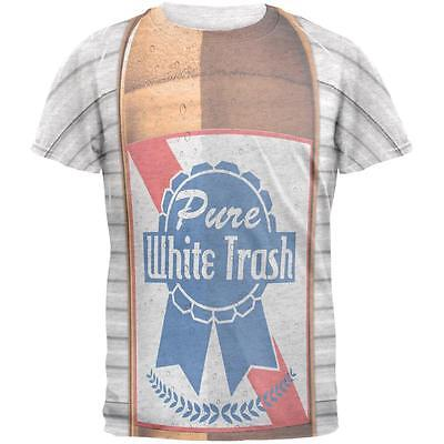 Halloween Pure White Trash Beer Costume Mens T Shirt