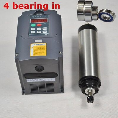 Four Bearing 0.8kw Water Cooled Spindle Motor Er11 And Inverter Drive Vfd Cnc
