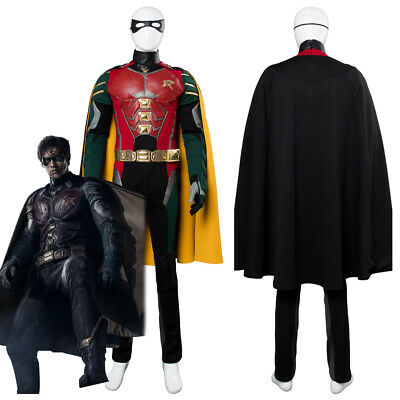 Batman Justice League vs Teen Titans Richard Grayson Robin Cosplay Costume Suit - Teen Titan Robin Costume