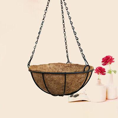 Iron Chain Hook Hanging Planter Coconut Shell Plant Holder Flower Pot Basket Us