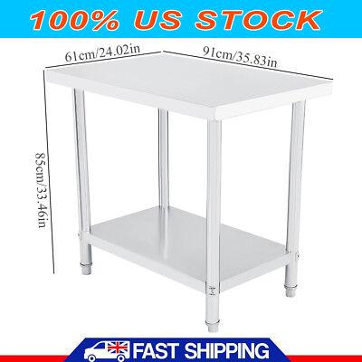 24 X 36 Stainless Steel Work Prep Table Commercial Kitchen Restaurant 91x61cm